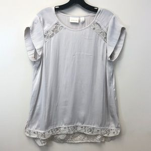 Chico's Lace Silky Top Size 1